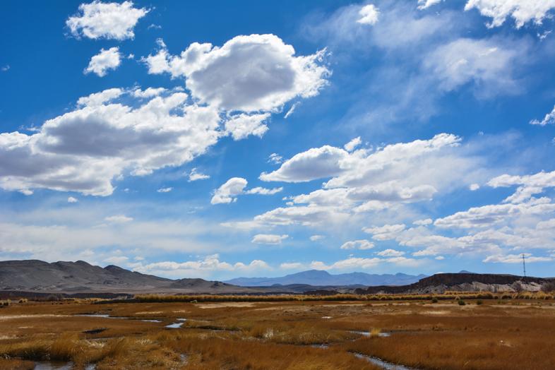 Antofagasta de la Sierra Catamarca Belen Argentine ciel bleu nuage impressionnant