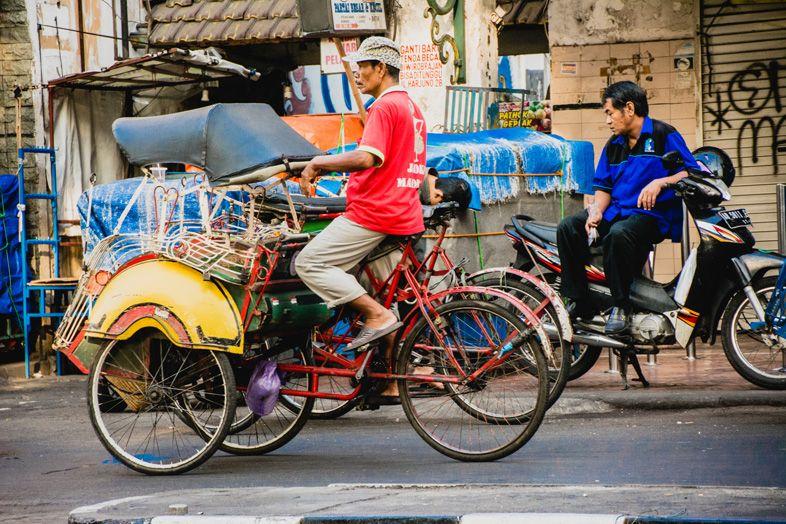 becak yogyakarta en indonesie