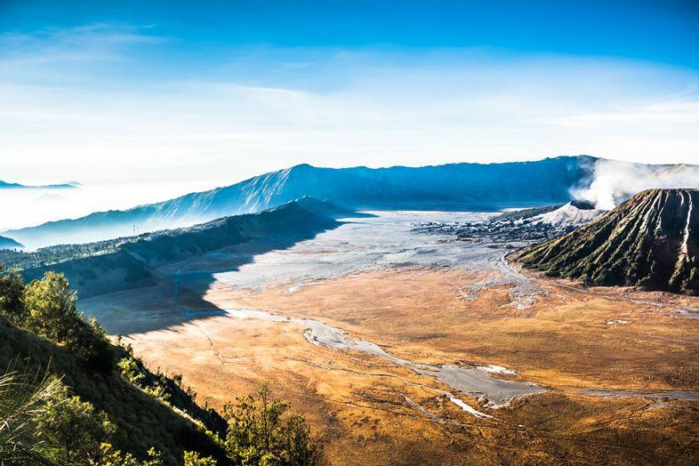 Superbe vue du paysage du Mont Bromo