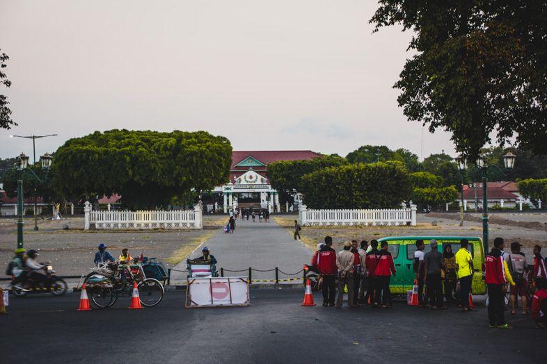 entrée du kraton à Yogyakarta