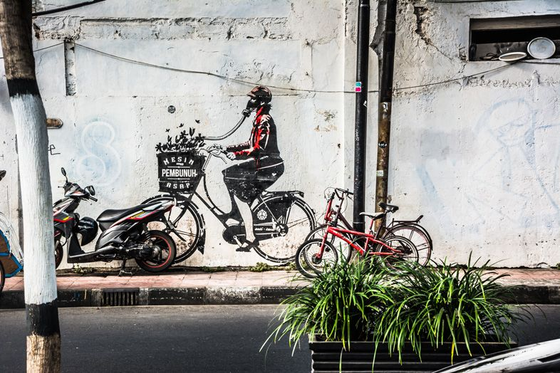 graffiti yogyakarta en indonesie