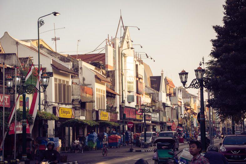 jalan malioboro yogyakarta en indonesie