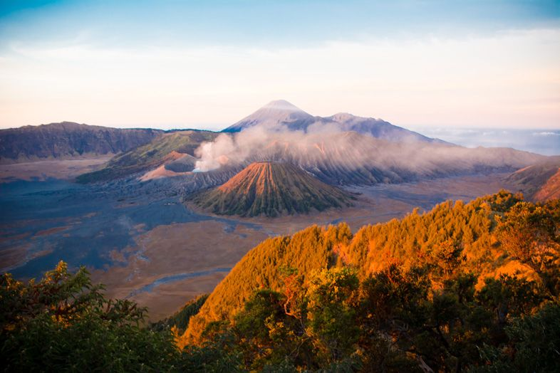mont bromo en indonesie levee du soleil