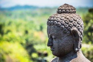 Statue du temple de Borobudur