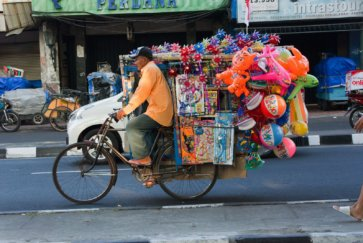 vendeur ambulant yogyakarta indonesie