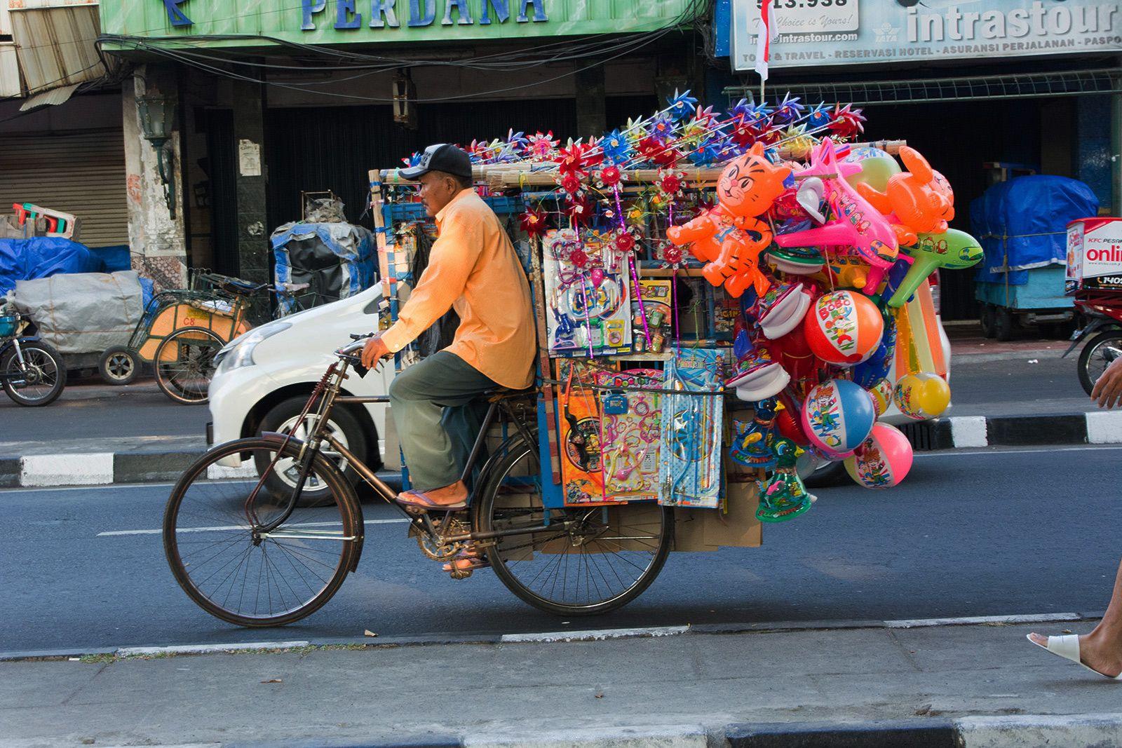 Vendeur ambulant à Yogyakarta