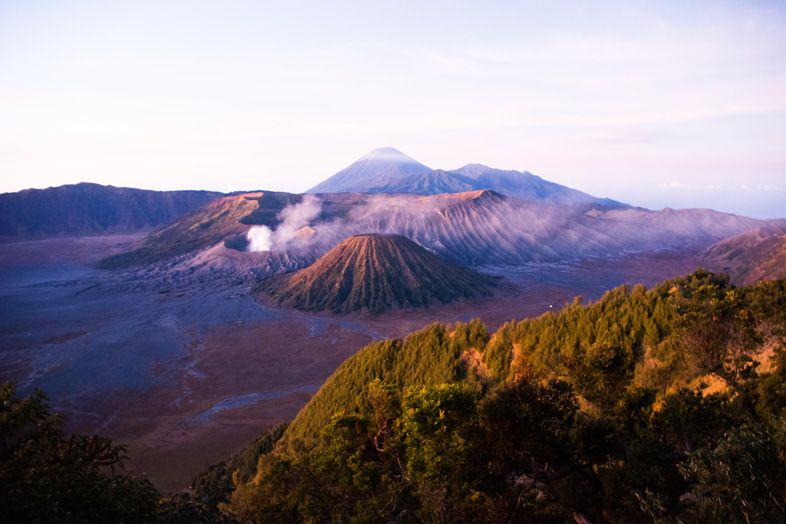 Vue du Mont Bromo à partir du Mont Penjakan