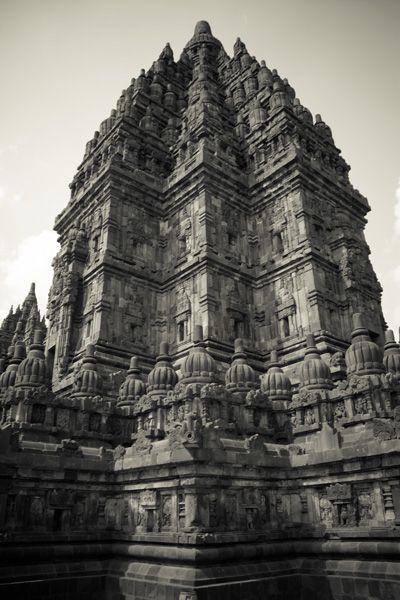 vue sur temple de prambanan