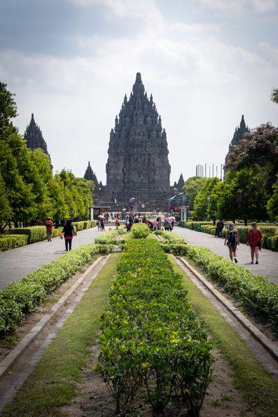 vue temple de prambanan