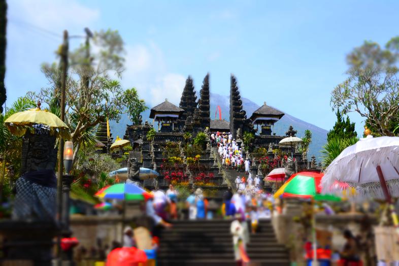 entre bali besakih temple vue de en bas