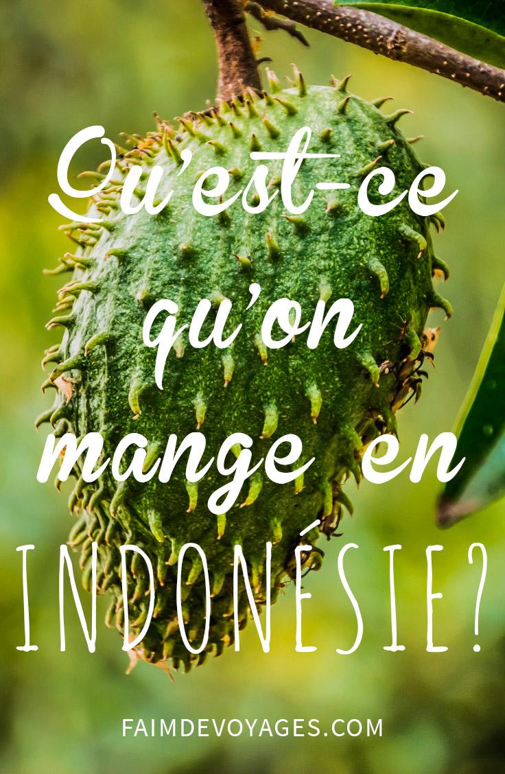 Les Fruits En Indonésie