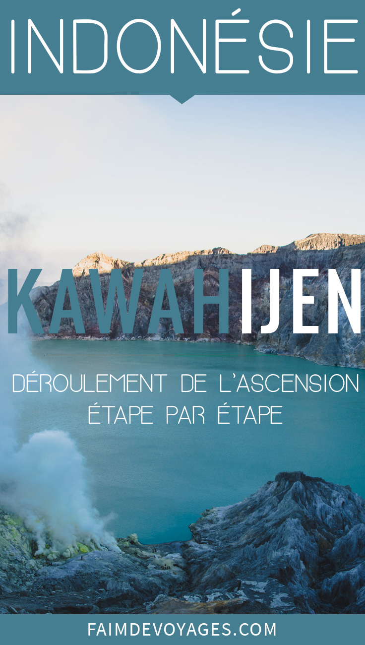 Vue du lac du Kawah Ijen