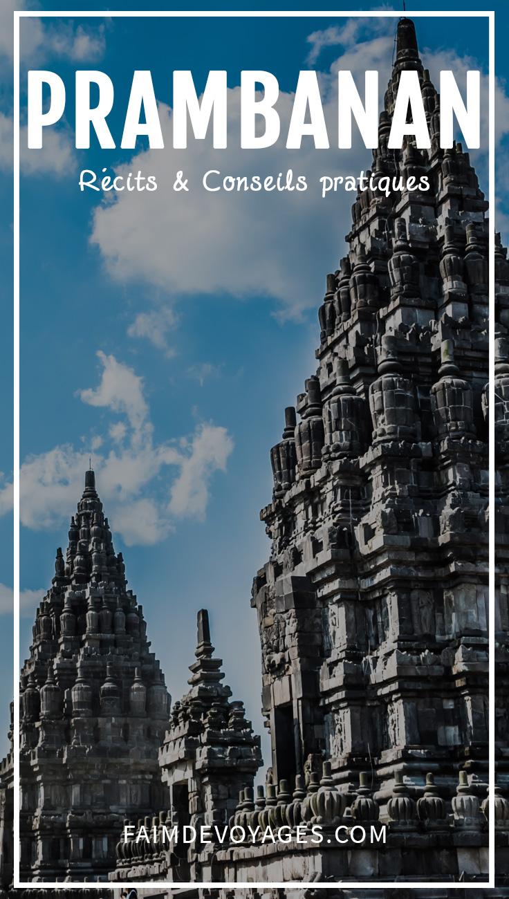 Vue sur les temples de Prambanan