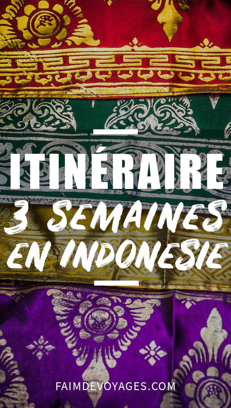 Itinéraire Pour Partir En Indonésie Pendant 3 Semaines