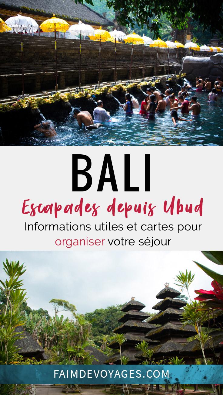Escapades Possibles Autour De Ubud à Bali En 1 Journée