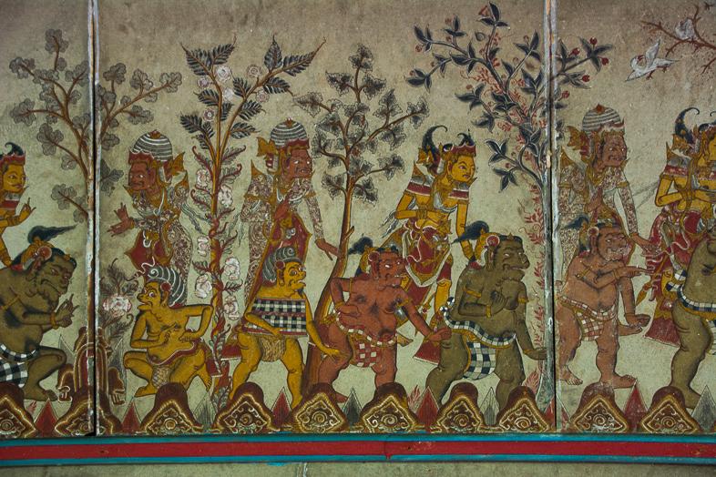 fresques colores palais de justice klungkung