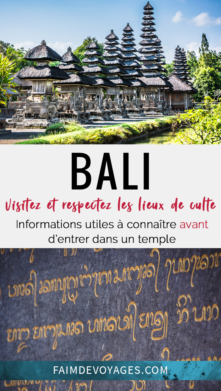Respecter Les Lieux De Cultes A Bali