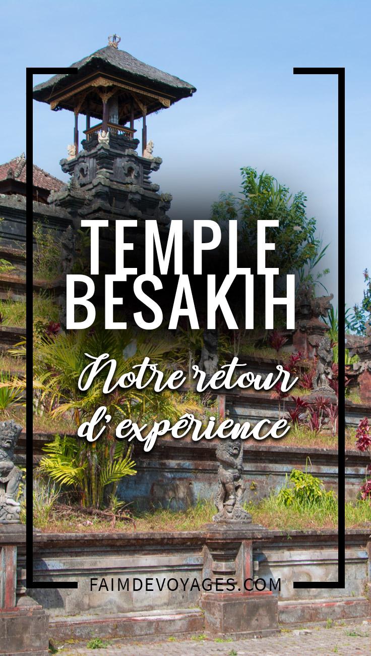 Retour D'expérience Sur Le Temple Besakih