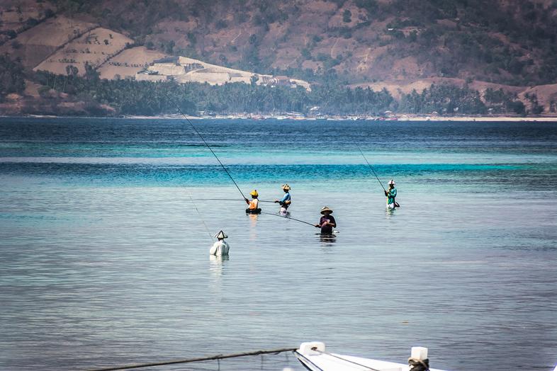 pecheurs iles gili air indonesie lombok