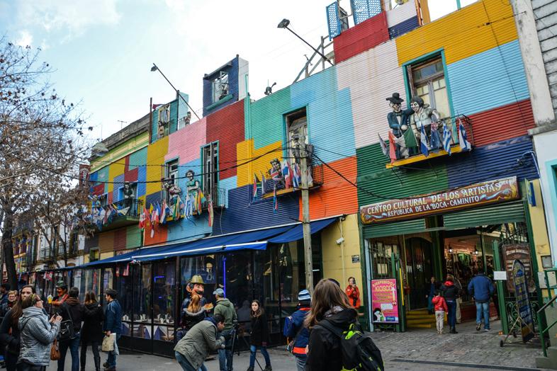Quartier de la Boca à Buenos Aires sitre très touristique en Argentine