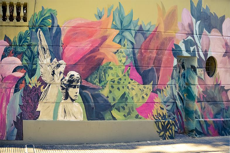 palermo street art buenos aires fleurs