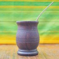 Mate et bombilla boisson traditionnelle Argentine classique en bois