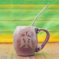 Mate et bombilla boisson traditionnelle Argentine en ceramique de cafayate
