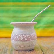 Mate et bombilla boisson traditionnelle Argentine valle del sol en ceramique