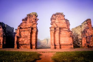 San Ignacio Misiones Argentine ruines jesuites porte principale eglise postshow