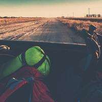 mosaique autostop backpack faim de voyages