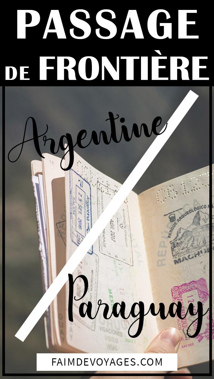 Frontière Entre Le Paraguay Et L'argentine Au Niveau De Posadas