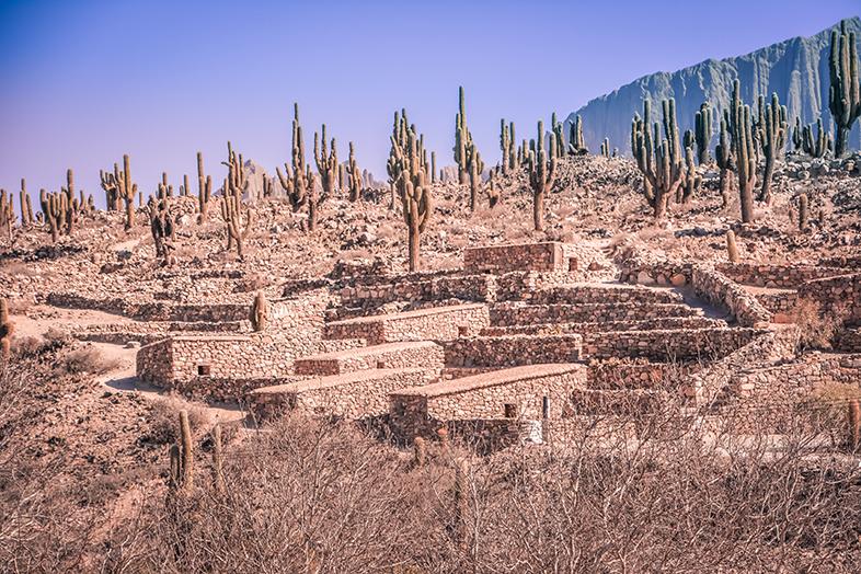 pucara de tilcara a jujuy en argentine ruines omaguacas