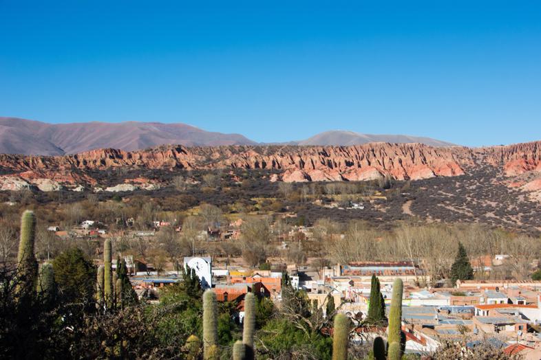 Quebrada de Humahuaca vue du village de Humahuaca