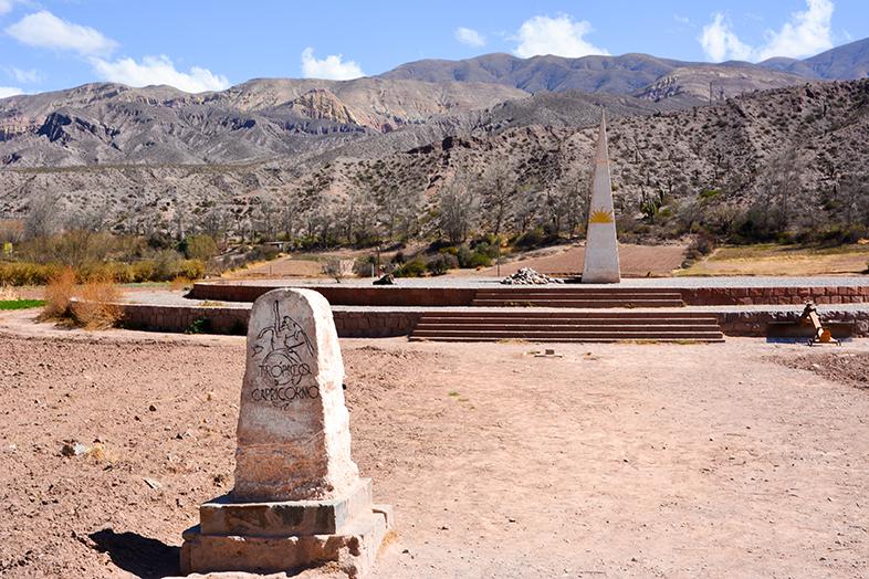 monument du tropique du capricorne dans la quebrada de Humahuaca