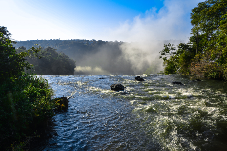 Chutes d'Iguazu côté Argentine, vue depuis le haut des chutes