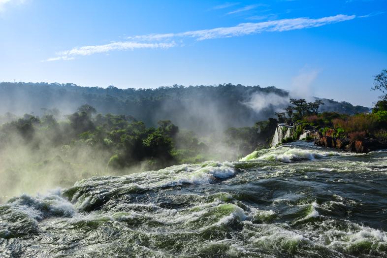 Chutes d'Iguazu vues du dessus côté Argentine