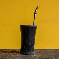 Mate et bombilla boisson traditionnelle Argentine mate en bois et cuir
