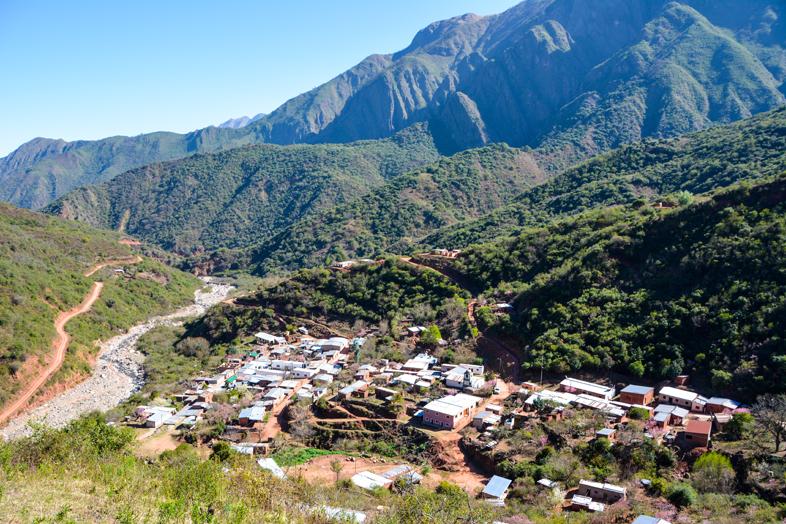 Vue sur le village de Valle Colorado en Argentine