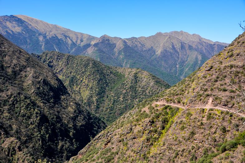 Paysage le long du chemin de l'Inca en Argentine