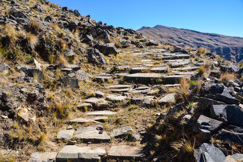 Le chemin de l'Inca en Argentine est parfois très bien conservé !