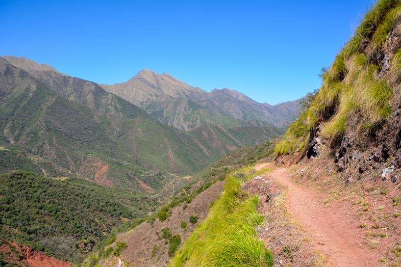Chemin de l'Inca en Argentine un peu avant d'arriver au village de Valle Colorado