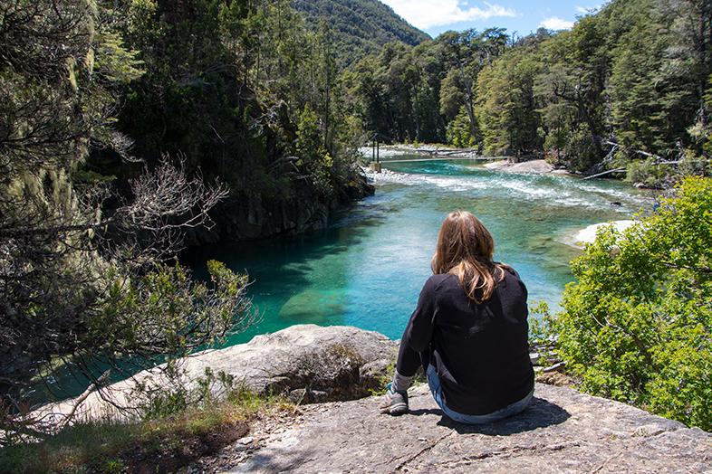 trekking cajon del azul pres el bolson province de rio negro en Argentine