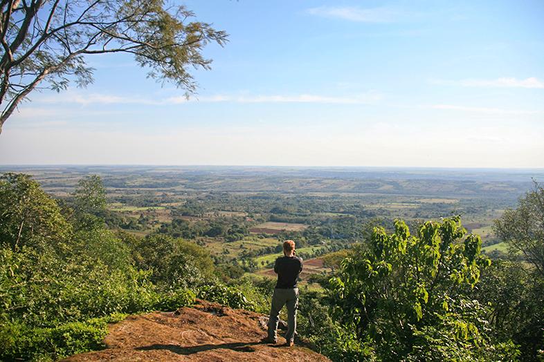 volontariat workaway paraguay san ignacio guazu vue du cerro pres de santa maria