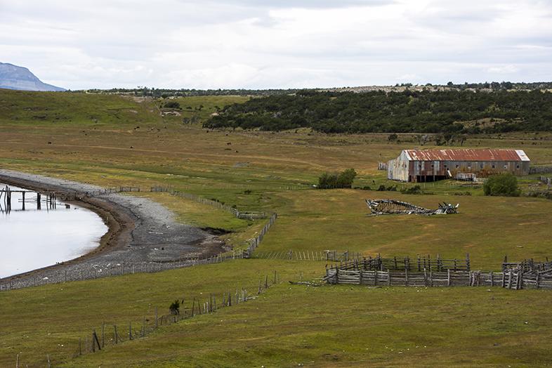 volontariat workaway puerto natales chili patagonie vue estancia depuis cabane