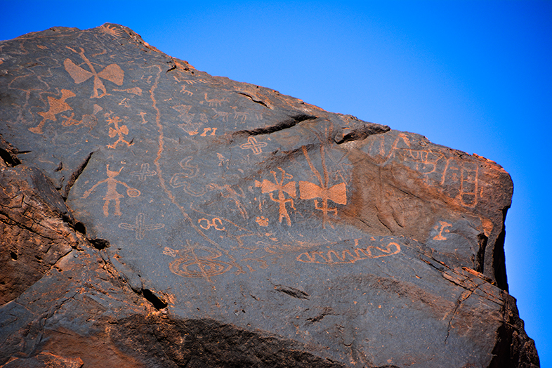 Parc national Talampaya La Rioja petroglyphes gravure reves scenes etranges rares