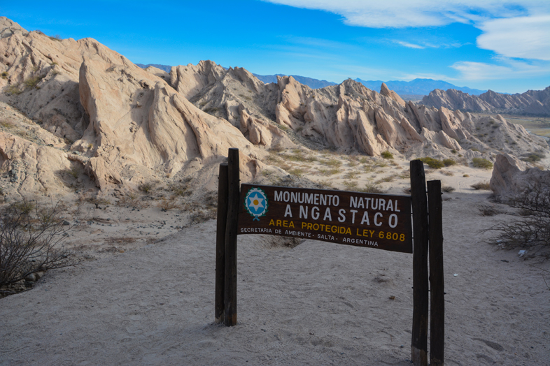 Roadtrip Salta Argentine boucle sud monument naturel Angastaco formation rocheuse route 40