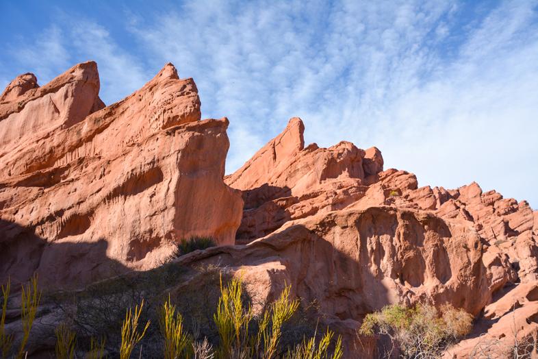 Roadtrip Salta Argentine boucle sud quebrada de las conchas couleurs roche formations