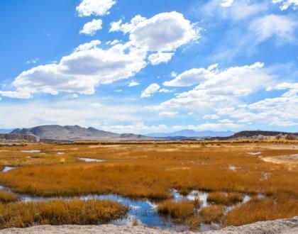 Antofagasta de la Sierra Catamarca Belen Argentine lagune et ciel bleu postshow