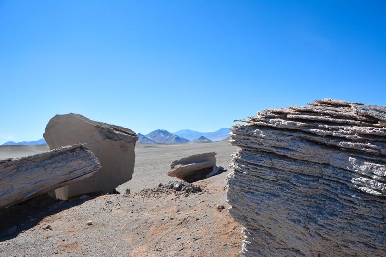 Pierres ponces (campo de piedra pomez) près d'Antofagasta de la Sierra