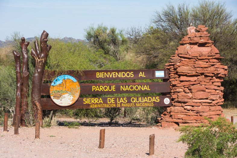Parc National Sierra de las Quijadas province de San Luis Argentine entree du parc